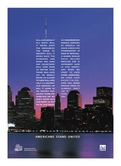 Americans stand united | 9/11 | memorial | world trade center | #NYC | Communication | advertising | ad