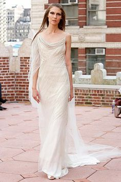 Slip Gown Wedding Dress, Vintage Style, Designer Gowns || Colin Cowie Weddings