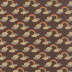 Momo - Flying Colors - Rainbows Brown | buy in-store and online from Ray Stitch