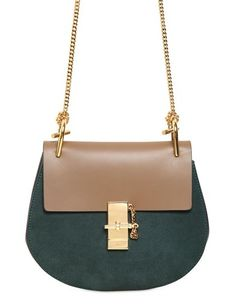 This Chloé Drew Suede crossbody bag is calling my name... re-pin if it's calling your's too!