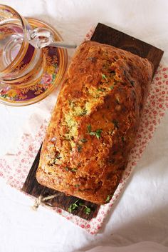 Cheese, Olive & Herb Quick Bread***(8/20/2012...wonderful recipe)!(I omitted dried mustard and added 1T. stone ground mustard...I also added chopped wine brined mixed olives instead of green olives.It's an incredible loaf of bread)!!!