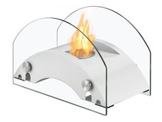 Ignis Harbor White - Tabletop Ethanol Fireplace (TTF-056W) - comes with smallest ethanol burners of only 0.4 liters and will burn exactly 2 hours per refill witch should give you just enough time to finish up your romantic dinner. #Ethanol #Free-Standing. Modern Blaze