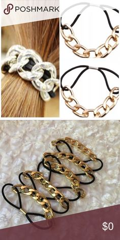 Lightweight Gold Chain Pony Super cute ✅ Use this fabulous accessory to be stylish from head to toe ✅ Brand new and comes in manufacturers packaging ✅ Price is firm unless bundled Accessories Hair Accessories
