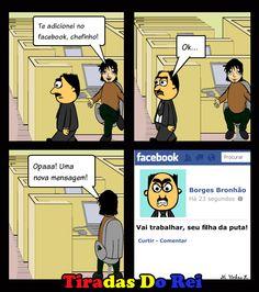 Te adicionei no Facebook