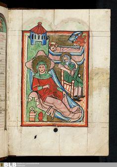 Miniatur: Geburt Christi - Titel Psalterium - Lichtenthal 25 Erschienen Oberrhein, [2. Hälfte des 13. Jh.]