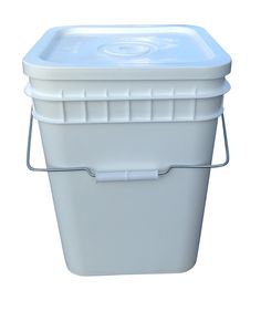 Food Grade 3 Gallon Square Buckets. So useful for garden and kitchen. I Stack'em up!