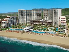 Secrets Vallarta Bay & NOW Amber, side-by-side in Puerto Vallarta, Mexico.  Both resorts are all-inclusive.  Secrets Vallarta Bay is adults-only and Amber is family friendly. Great for adults and also for families traveling together.  For more info: ASPEN CREEK TRAVEL - karen@aspencreektravel.com