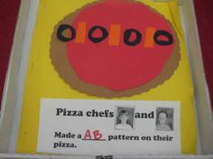 Math:  Pizza Patterning.  But wow! LOTS of other ideas for alphabet, beginning of the year, and math.