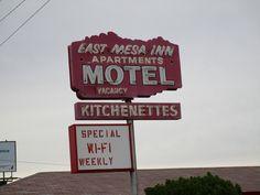 Vintage Motel Sign, Close-up: East Mesa Inn Motel, Mesa, AZ | by classic_film