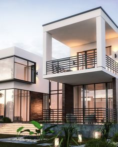Sustainable Home With An Inviting Modern Design Aesthetic - Modern Architecture Contemporary House Plans, Modern House Plans, Modern Houses, Modern Home Interior Design, Modern House Design, Home Design, Design Ideas, Style At Home, Modern Architecture House