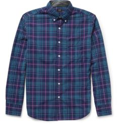 J.Crew Check Cotton Button Down Collar Shirt | MR PORTER