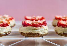 strawberry lavender doughnuts   edible perspective