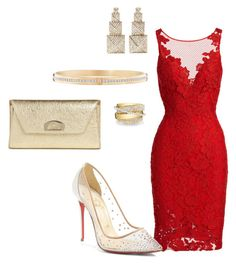 Untitled #628 by itsasecret-87 on Polyvore featuring polyvore, fashion, style, ML Monique Lhuillier, Christian Louboutin, Harry Winston, Shay and clothing