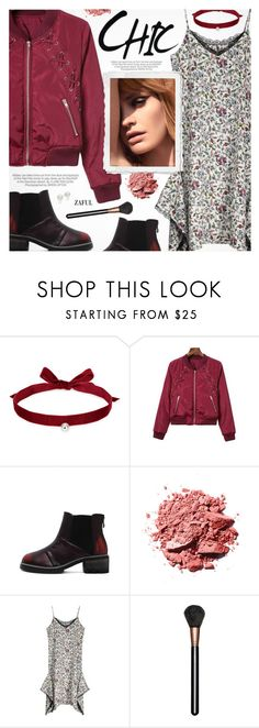 """""""Edgy Chic"""" by pokadoll ❤ liked on Polyvore featuring Joomi Lim, Kershaw, MAC Cosmetics and AK Anne Klein"""