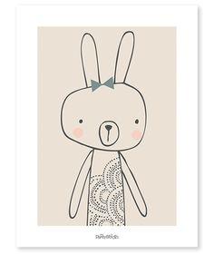 Poster Lilipinso konijn Blanche 30x40cm