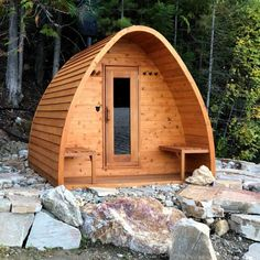 Diy Sauna, Shower Pods, Modern Saunas, Building A Sauna, Wood Burning Heaters, Sauna Heater, Sauna Design, Design Design, Natural Swimming Pools