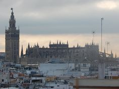 A view of the cathedral in #Seville.