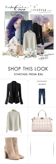 """""""Cyber Monday - YesStyle"""" by wish85 ❤ liked on Polyvore featuring Cherryville, PEPER, LineShow, Gianvito Rossi, yesstyle, blackfriday and cybermonday"""