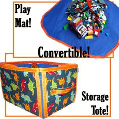 Play Then Store Away Play Mat & Tote | YouCanMakeThis.com