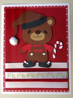 Cricut Teddy Bear Parade Elf Card