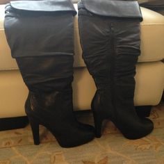 Jessica Simpson Heeled Boots Brand new only worn inside gorgeous black heeled boots by Jessica Simpson. Aprox 4 inch heel. Knee high. Size 10. Jessica Simpson Shoes Heeled Boots