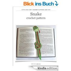 Snake Crochet Pattern. Amigurumi bookmark. New Year charm. (Crochet Bookmark)