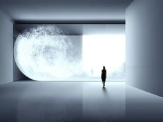 """Tokujin Yoshioka creates interiors, installations and architecture where people can feel the light with all their senses. He explores beauty born out of coincidence and beyond human imagination; his work echoes the beauty of nature with its ever-changing expression, giving the idea """"that the design doesn't even exist""""."""
