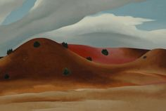 "bal-bullier: "" Grey Hills painted red. Georgia O'Keeffe (1930). """