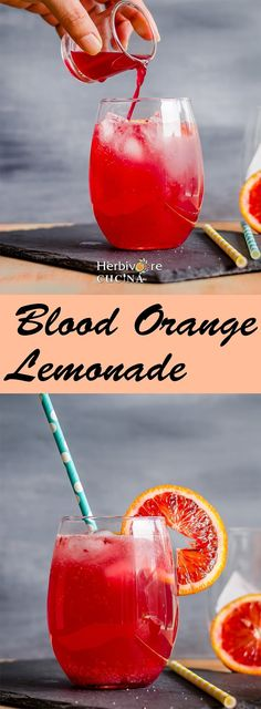 A perfect summer drink using Blood Oranges. Ditch all the artificial colors and join the clean eats bandwagon with this one!         It is...