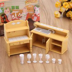 Strict New Dollhouse Miniature Furniture Desk+laptop+chair Model Landscape Sand Model Toy Dolls & Stuffed Toys Doll Houses