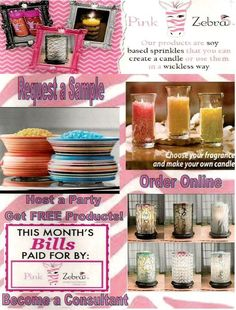 Wanna see what Pink Zebra is all about? Host an online party, Request a Sample or JOIN MY TEAM ! http://zebracandlesprinkles.com