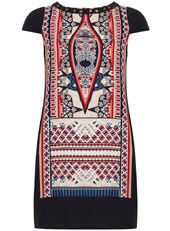Tribal print shift dress - great for work then straight out in the evening