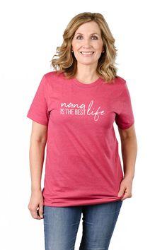 b4fb3cfc3bb Nana Life is the Best Life-Nana Life Graphic Tee Shirt  fashion  clothing