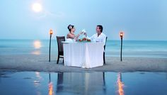Romantic dinner @ Panviman Resort Koh Phangan 4* on Thong Nai Pan Noi Beach on the east coast of Koh Phangan, Thailand