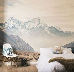 I've just found Mountain Vista Self Adhesive Wallpaper Mural. A large self-adhesive mountain vista wall mural will completely transform your room, and unlike traditional wallpaper it's quick and mess free to install.