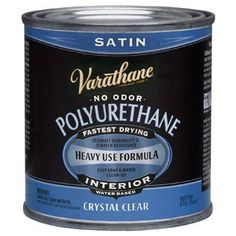 To use after stain is applied : Rust-Oleum Varathane 200261H 1/2-Pint Interior Crystal Clear Water-Based Polyurethane, Water-Based Satin Finish