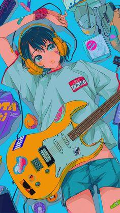 anime girl guitar music fondo de pantalla wallpaper #anime #fondodepantalla #wallpaper #guitar #animegirl #music #color #cute ♡ hola si quieres ver mas contenido, síguenos te lo agradecemos mucho.♡ Este wallpaper no nos pertenece créditos a su creador. ♡ hello if you want to see more content, follow us we appreciate it very much. ♡ This wallpaper does not belong to us credits to its creator. Music Headphones, Music Wallpaper, Kawaii Art, Digital Art, Music Instruments, Guitar, Manga, Anime Girls, Colors