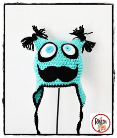 Crochet Hat Mr. Moustaches C. €18.00, via Etsy. #spanishcraft