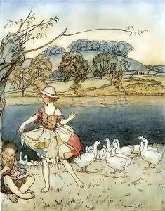 Tattercoats (similar to Cinderella), English Fairy Tales. New York: MacMillan Company 1918. Illustrated by Arthur Rackham