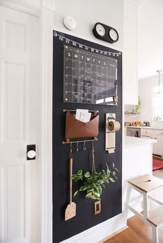 Family Command Center, Command Center Kitchen, Family Organization Wall, Home Projects, Home Kitchens, Decoration, Diy Home Decor, Family Room, Sweet Home