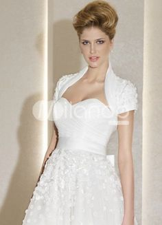 Sweetheart A-line Grenadine Tea Length Wedding Dress
