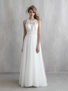 vestido blanco de novia de sencilla caída