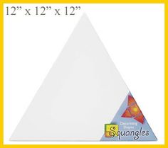 Large Triangle Canvas 12 x 12 x 12, great project for you to make for your sister, little sister, big sister appreciation week, senior send off #diygreek, #sorority #crafts #greek #gifts