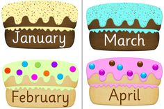Birthday Cakes months FREE download
