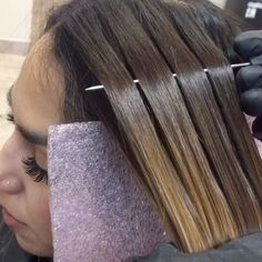 Jan fast hair painting color technique videos from on Hair Color Highlights, Hair Color Dark, Hight Light, Balayage Technique, Hair Color Formulas, Hair Color Techniques, Balayage Hair Blonde, Brunette Hair, Fast Hairstyles