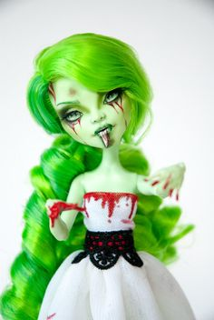 Lethe OOAK Monster High Venus Repaint by ColourToTheBone on Etsy