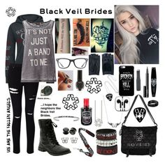 """""""It's Not Just A Band To Me"""" by lost-in-the-music ❤ liked on Polyvore featuring Miss Selfridge, ONLY, NARS Cosmetics, Bling Jewelry, Zanellato and Ray-Ban"""