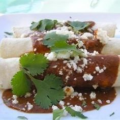 These authentic chicken enchiladas with mole sauce were inspired by a ...