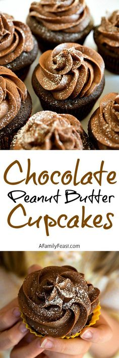 Chocolate Peanut Butter Cupcakes - Kids love to cook and bake! See this delicious recipe inspired by MASTERCHEF JUNIOR on FOX #MasterChefJunior - A Family Feast