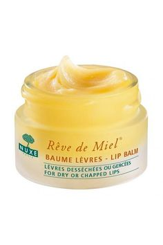 Nuxe-Rêve de Miel® - Ultra-Nourishing Lip Balm - Dry and Chapped Lips - THE BEST lip balm I have ever tried. Its texture is super rich, and it smells like lemon and honey. So worth it. Really great as an overnight treatment. a must have for winter. Skin Secrets, Beauty Secrets, Beauty Hacks, Beauty Products, Lip Products, Beauty Stuff, Beauty Trends, French Products, Beauty Tips